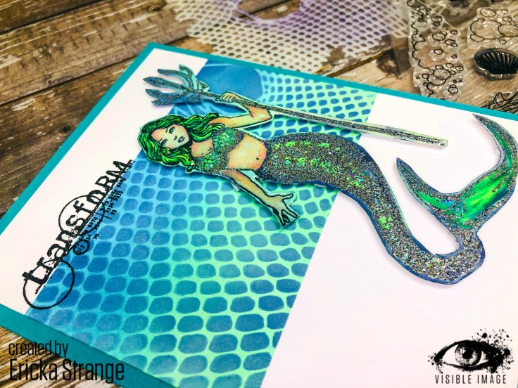wow embossing powder | cloud 9 | mermaid stamp