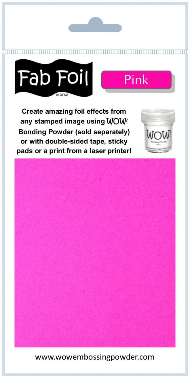 WOW! Embossing - Fab Foil Pink