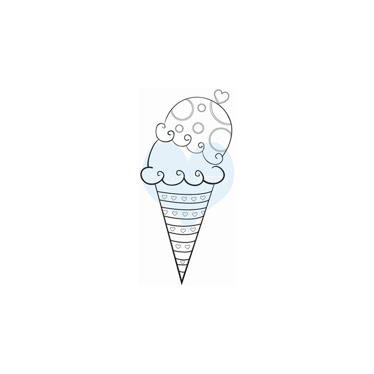 Crackerbox & Suzy Stamps - Ice Cream Sugar Cone