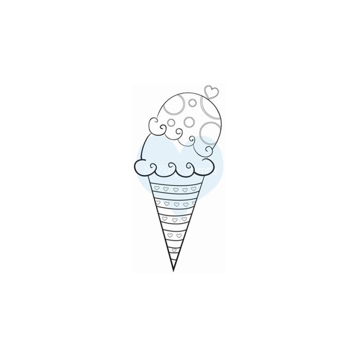 Crackerbox & Suzy Stamps - Ice Cream Sugar Cone
