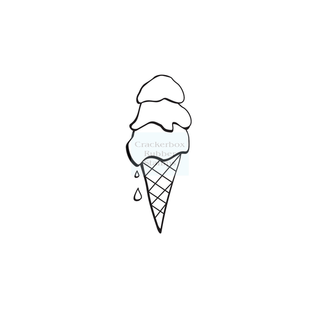 Crackerbox & Suzy Stamps - Ice Cream 3 Scoops