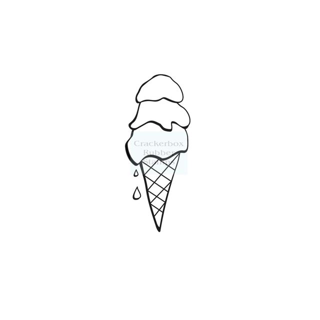 Crackerbox & Suzy Stamps - Ice Cream 3 Scoops