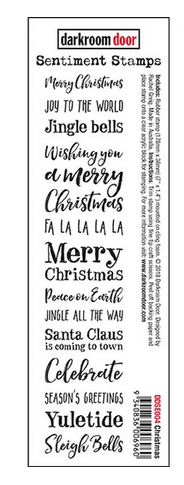Darkroom Door - Sentiment Strip Merry Christmas