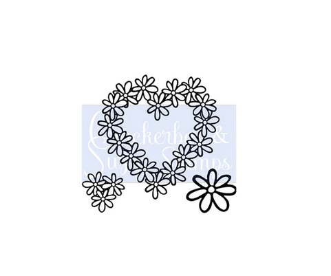 Crackerbox & Suzy Stamps - Daisy Heart set of 3