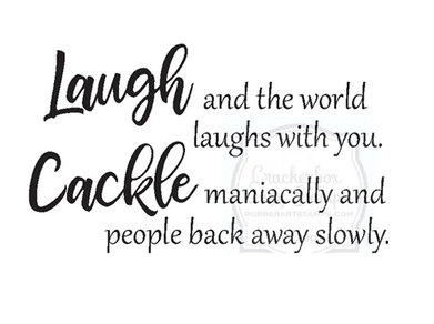 Crackerbox & Suzy Stamps - Laugh Cackle