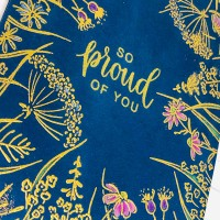 Classic Gold Embossing on Navy