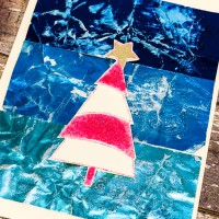 Mixed Media Christmas Tree