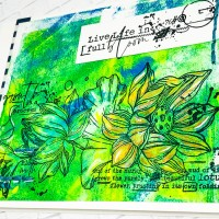 Gel Press Flower Print