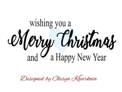 Crackerbox & Suzy Stamp - Merry Christmas Brush