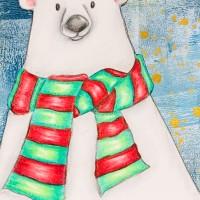 Polar Bear Fresco Background