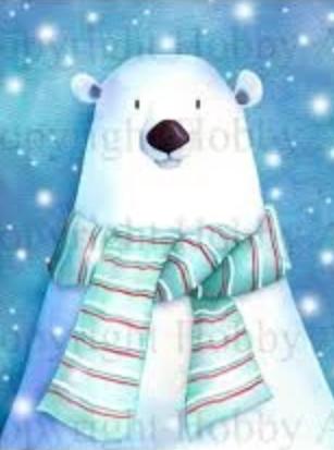 Hobby Art Stamps - Polar Bear