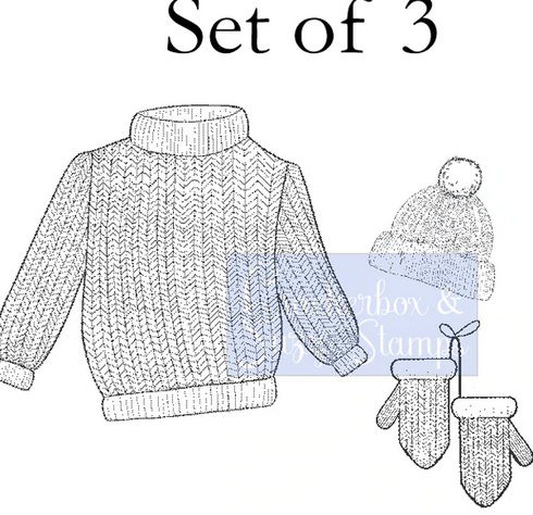 Crackerbox & Suzy Stamps - Knit Sweater Set