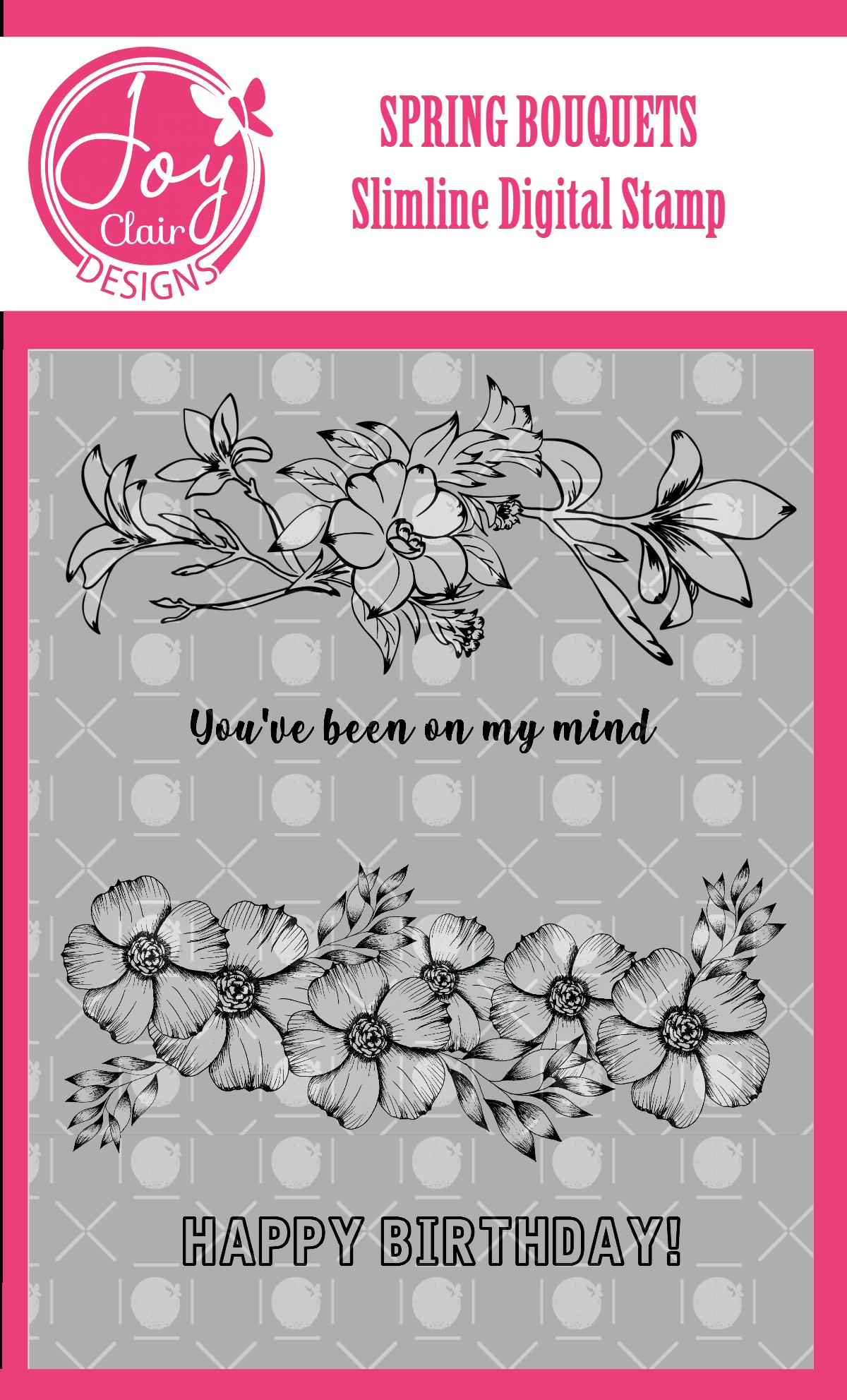 Joy Clair - Spring Bouquet Slimline
