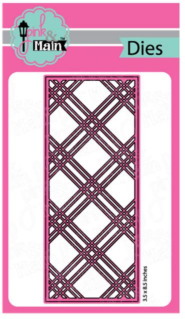 Pink & Main - Plaid Slimline Die