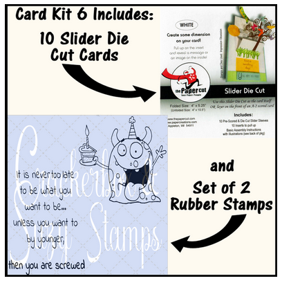 Crackerbox & Suzy Stamps - Card Kit 6