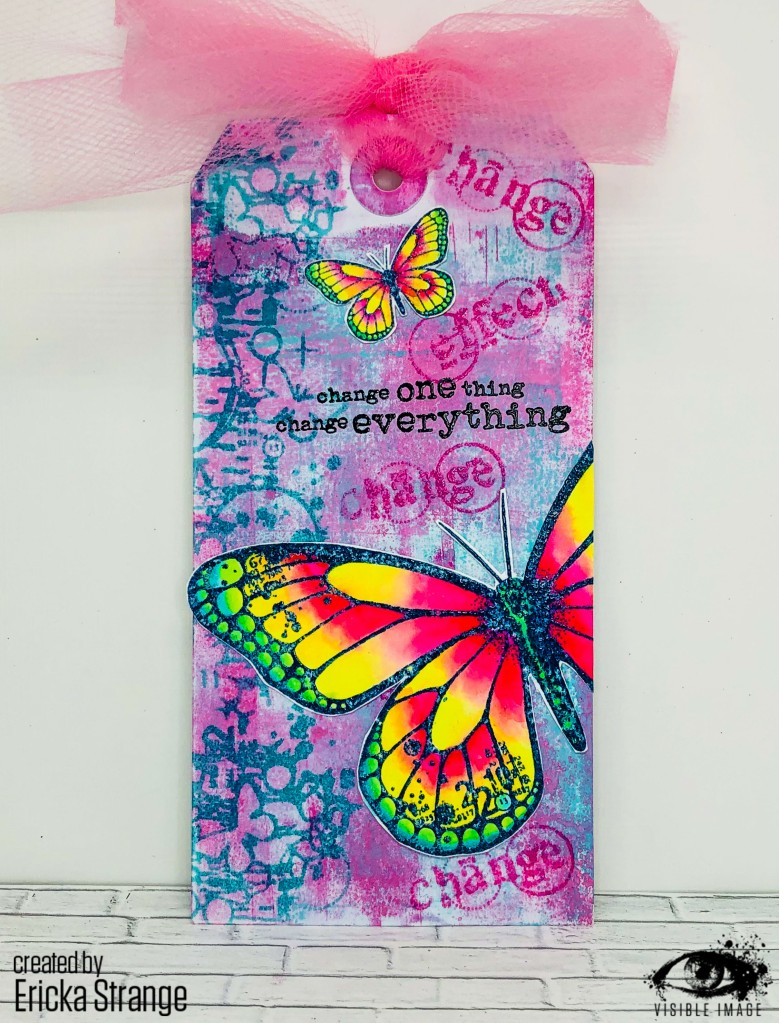 handmade tag | butterfly stamps | distress oxide inks
