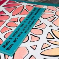 PaperArtsy Tracy Scott Stencil Card
