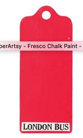 PaperArtsy - Fresco Paint - London Bus
