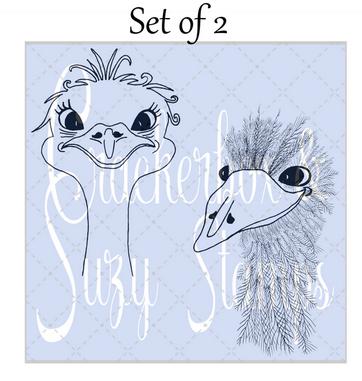 Crackerbox & Suzy Stamps - Emu Adele & Alfred