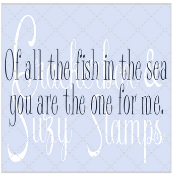 Crackerbox & Suzy Stamps - Fish in the Sea