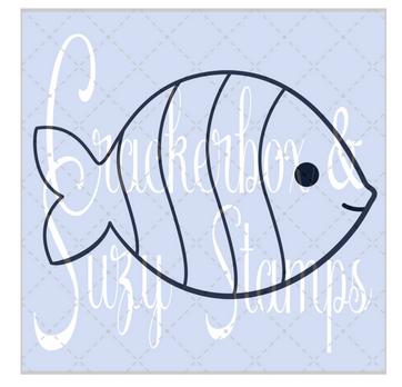 Crackerbox & Suzy Stamps - Fish Stripe