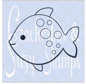 Crackerbox & Suzy Stamps - Fish Polka Dot