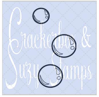 Crackerbox & Suzy Stamps - Bubbles