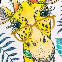 Pink Ink Design Giraffe