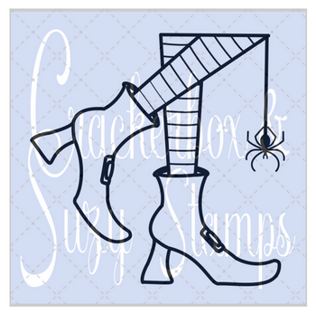 Crackerbox & Suzy Stamps -Witch Boots