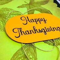 Crackerbox Stamps Leaf Thanksgiving